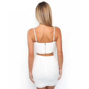 Spaghetti Strap V Neck Body Con Club Dress verkadi.com