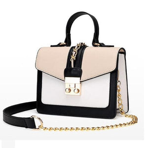Retro Cross Body Paneled Chain Messenger Handbag Verkadi.com