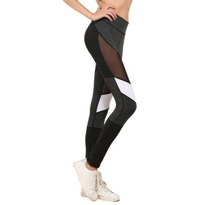 Push Up Active Wear Skinny Patchwork Mesh Leggings