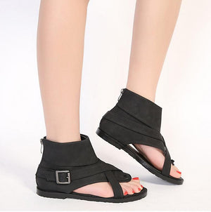 New Open Toe Gladiator Cover Summer Flat Sandals Verkadi.com