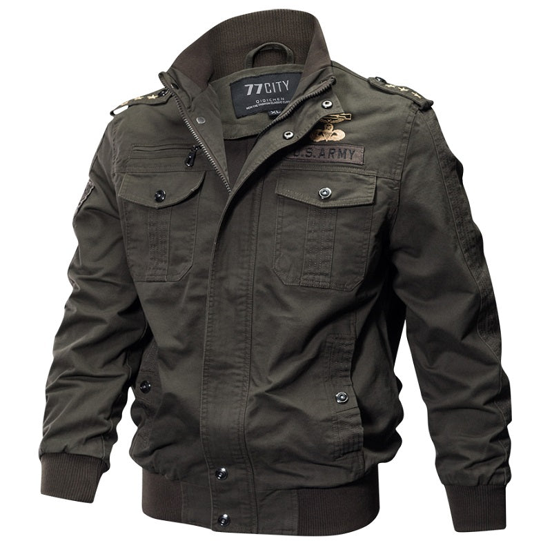 Cotton Full Sleeves Military Tactical Men's Jacket