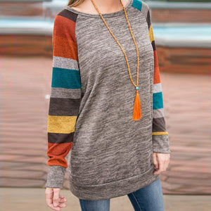 Smart O-Neck Rainbow Long Sleeve Top Sweatshirt Verkadi.com