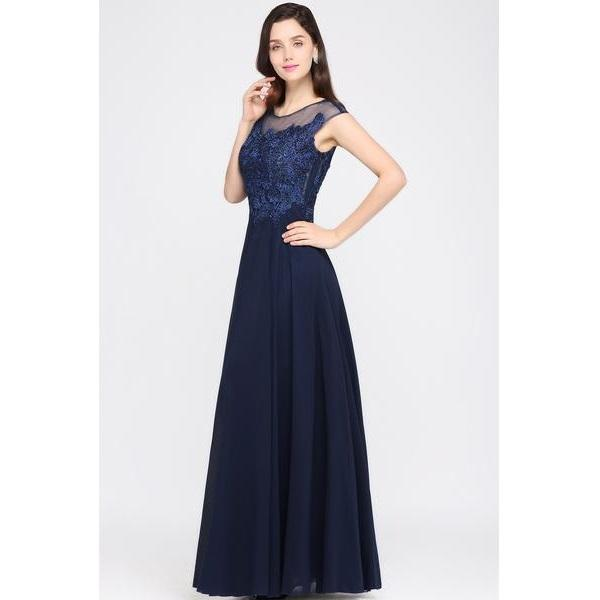 Classy Sequin Lace Sleeveless Evening Dress Gown