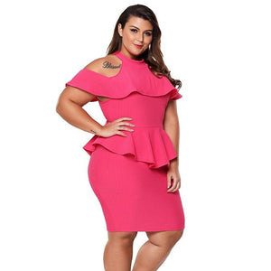 Sexy Cold Shoulder Bodycon PLUS Size Dress Verkadi.com