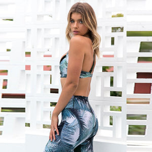 Crop Tank Women Sportswear Yoga Set