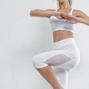 Two pieces Mesh Breathable Fitness Yoga Set Verkadi.com
