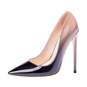 Classy Two Tone High Heel Pump Shoes Verkadi.com