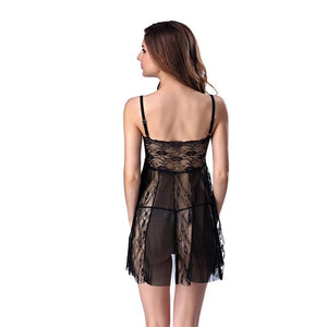 Sexy Backless Flora Lace Hollow Out Nightgown Lingerie Verkadi.com