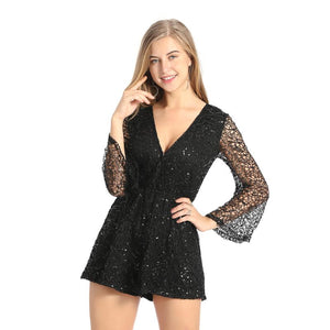Sexy Sequins Jumpsuit Romper Dress Verkadi.com