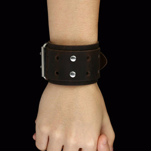 Unisex  Wide Leather Bracelet