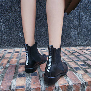 Hot Genuine Leather Pointed Toe Comfortable Ankle Boots