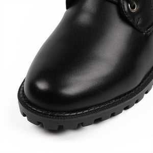 Euro Style Round Toe Back Zip Martin Ankle Boots