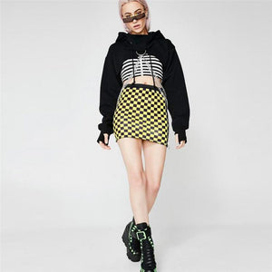 Hip Gothic With Chain Loose Street Wear Hoodie Sweatshirt Verkadi.com