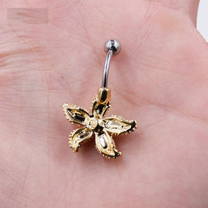 Colorful Starfish Navel Piercing Belly Button Ring Verkadi.com