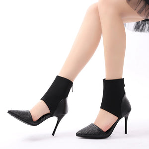 High Heels Pointed Toe Women Ankle Pumps Sandals