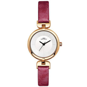 Designer Leather Strap Slim Wristwatch Verkadi.com