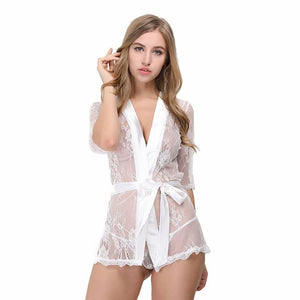 Sexy Hot Lace Robe Lingerie Nightgown Verkadi.com