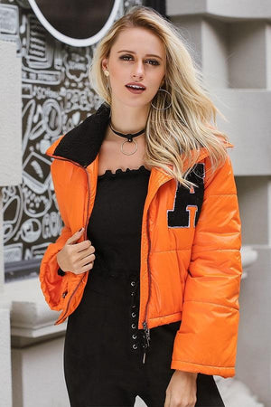 Hip Casual Oversize Cropped Quilted Women Jacket