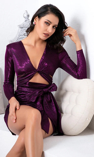 Sexy Purple Mini Dress