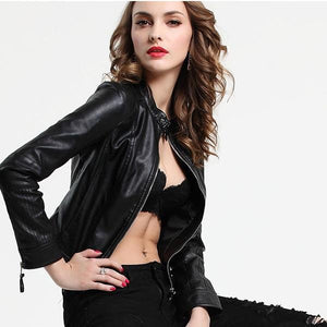 Hip Short Soft Faux Leather Street Wear Jacket Verkadi.com