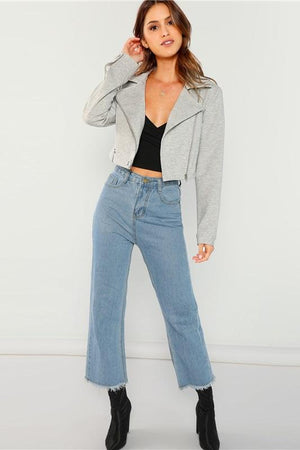 Grey Rock High Street Buckle Belted Women Jackets