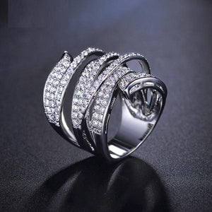 Vivid Full Paved Cocktail Ring