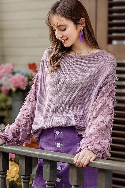 O-Neck Headgear Loose Lazy Knitted Sweater Pullover