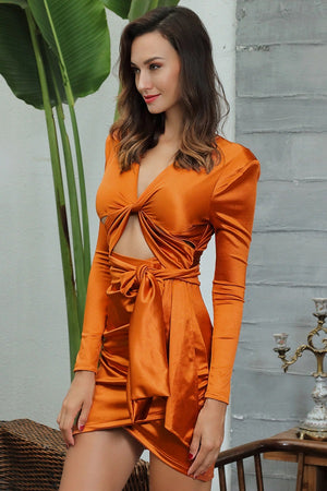 Sexy Orange Mini Dress