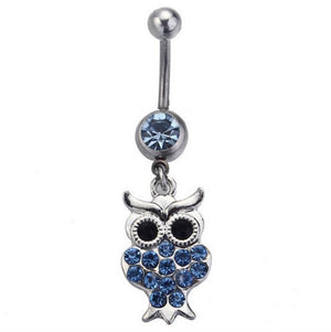 Sexy Crystal Owl Navel Piercing Belly Button Ring Verkadi.com