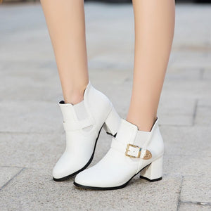 High Heels Ankle Short Plush Pointed Toe Boots Verkadi.com