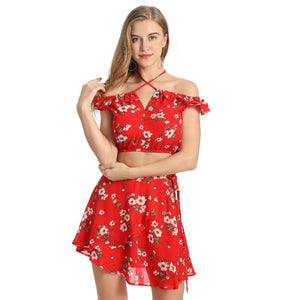 Sexy Chiffon Ruffles Casual Summer Short Dress Verkadi.com