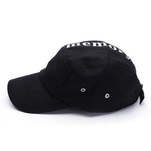 Memory Letter Unisex Flat Top Cotton Snap Back Baseball Cap