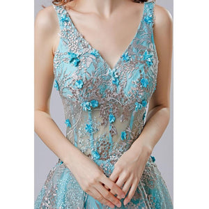Short Lace Appliques High Low Vintage Party Prom Dress
