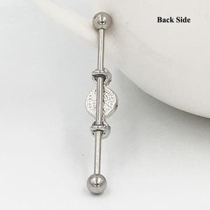 Crystal Ear Barbell Piercing 316 L Cool Lobes Body Jewelry Verkadi.com