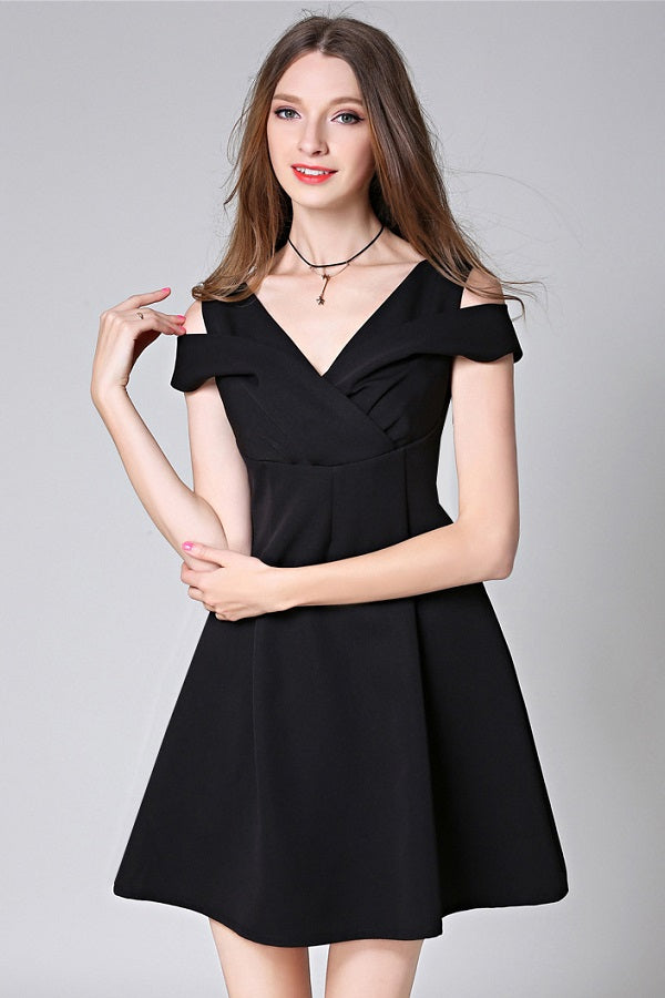 Sleeveless A-Line Formal Mini Dress
