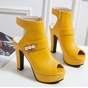 Super High Spike Heels Fish Mouth Platform Sandals
