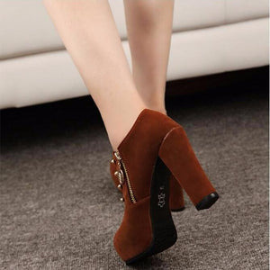 Smart High Heel Ankle High Street Pumps Boots Shoes Verkasi.com