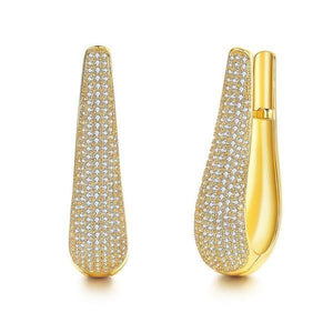 Novelty Zircon U Shaped Hoop Pierced Earrings Verkadi.com