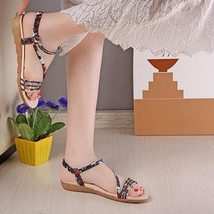 Bohemia Style Jelly Flats Rubber Open Toe Sandals Verkadi.com