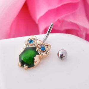 Cat Eye Stone Navel Piercing Belly Button Ring Verkadi.com