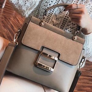 Quality Metal Hasp Tote Messenger Shoulder Handbag