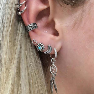 Moon Sun Cuff Ear Piercing Set