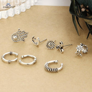Sun Moon Star Ear Piercing Set