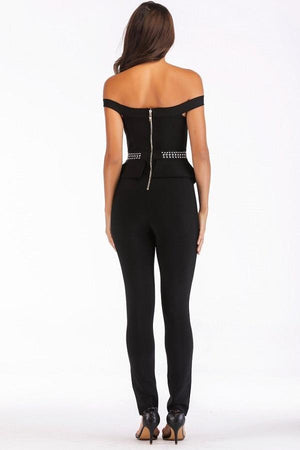 glitz black women jumpsuits dresses by verkadi