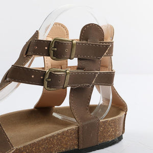 Fashion Cork Casual Summer Buckle Strap Sandals Verkadi.com