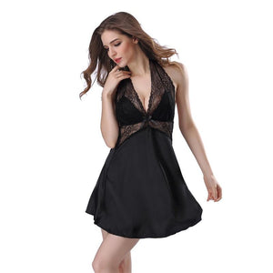 Sexy Lace Backless Spaghetti Strap Nightgown Lingerie Verkadi.com