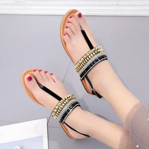 Cool Flat Bohemian Diamond Thong Women Gladiator Sandals