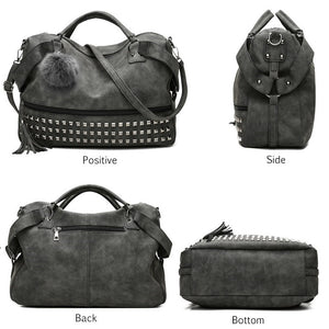 Chic PU Leather Fashion Riveted Shoulder Cross Body Bag Handbag