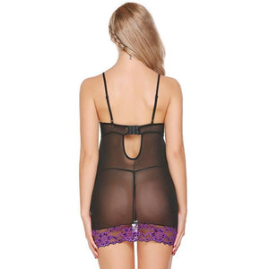 Hot Sex Lace Mesh Baby Doll Nightwear With G-String Lingerie Verkadi.com