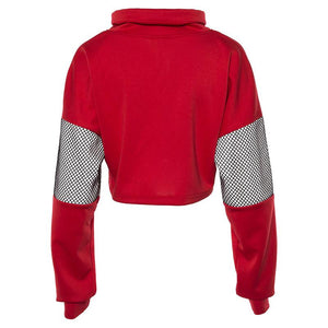 Smart Fashion Cropped Mesh Fishnet Top Hoodie Sweatshirt Verkadi.com